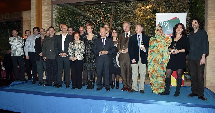 Foto grupal de los premiados